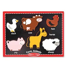 Six Piece Farm Animals Chunky Puzzle