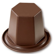 Diamant - Lote de 6 moldes individuales - chocolate