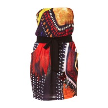 Robe bustier Africa noire