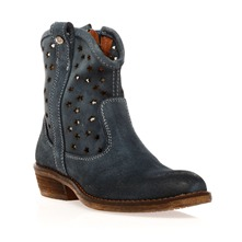 Bottines en cuir Manon bleu