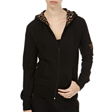 Black Classic Animal Hooded Jumper