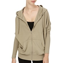 Sage Comfort Zip Hooded Jumper