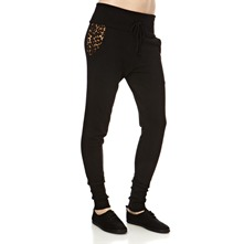 Black Wide Cuff Animal Tracksuit Trousers 28