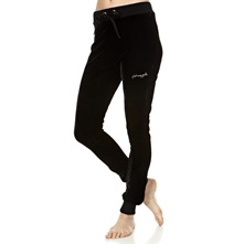 Black Velour Skinny Trousers 31