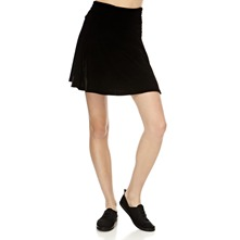 Black Velour Skirt