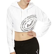 White Covent Crop Hooded Jumper