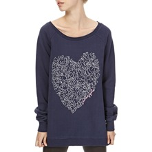 Blue Street Dance Heart Longline Jumper