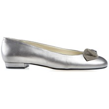 Metallic Silver Melville Pumps D Fitting
