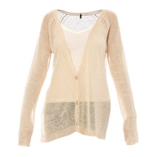 Cardigan en lin beige