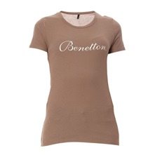 T-shirt marron clair
