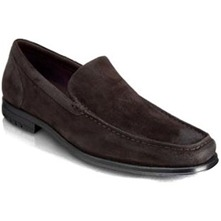 Men footwear: Brown Fairwood Venetian Leather Moccasins