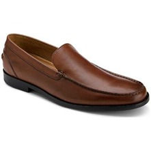Men footwear: Brown Leather Park Drive Venetian Loafers