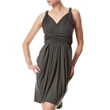 Charcoal Dara Wrap Dress