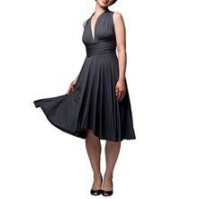 Charcoal Signature Jersey Dress