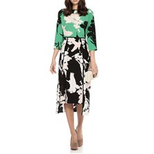 Green/Multi The Flight Through Paradise Silk Dress