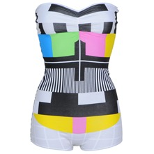 White/Multi Testcard Bandeau Body