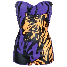 Purple Tiger Bandeau Body