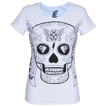 White Butterfly Skull T-Shirt