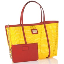 Yellow/Red Large Shopper