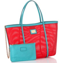 Red/Blue Large Shopper