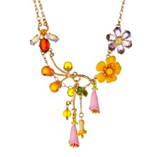 Yellow/Multi Reine Des Pres Necklace