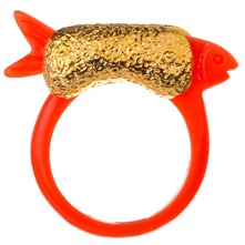 Orange/Gold Fish Ring
