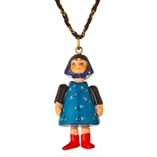 Blue/Black Large Figurine Necklace