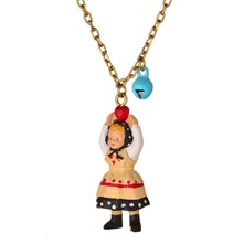 Black/Cream Figurine Necklace