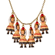 Black/Cream Multi Figurine Necklace