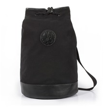 Black Canvas/Leather Duffle Bag