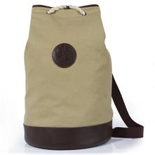 Stone Canvas/Leather Duffle Bag