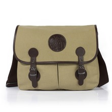 Stone Canvas/Leather Poachers Bag