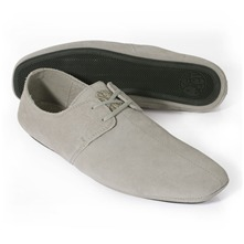 Grey Suede Casual Shoes