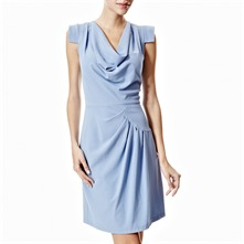 Light Blue Cowl Neck Dress