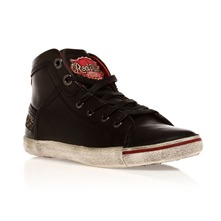 Baskets Underjunior en cuir noir