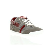 Sneakers Zapping gris et rouge