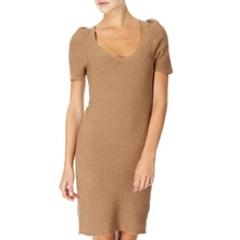 Gold Metallic Knitted Dress