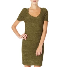 Green Sparkle Knitted Dress