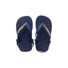 Tongs Baby Brasil Logo bleues