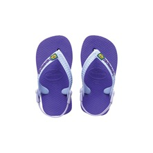 Tongs Baby Brasil Logo violettes