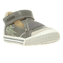 Sneakers en cuir gris fonc