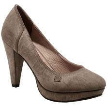Grey Court Shoes 10cm Heel