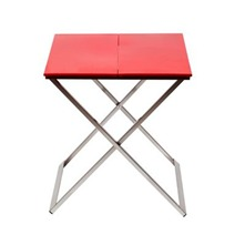 Table de chevet Origami Rouge vif