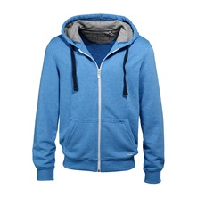 Sweat zippé bleu
