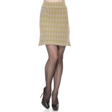 Green Argyle Cashemre/Angora Blend Skirt