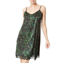 Green Strappy Silk Dress