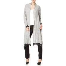 Grey Wool Blend Draped Snug