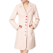 Pink/Red/White Wool Tweed Coat