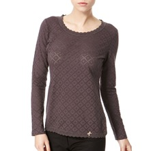Dark Grey Lace Trom Cotton Top