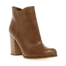 Boots  talon beige fonc